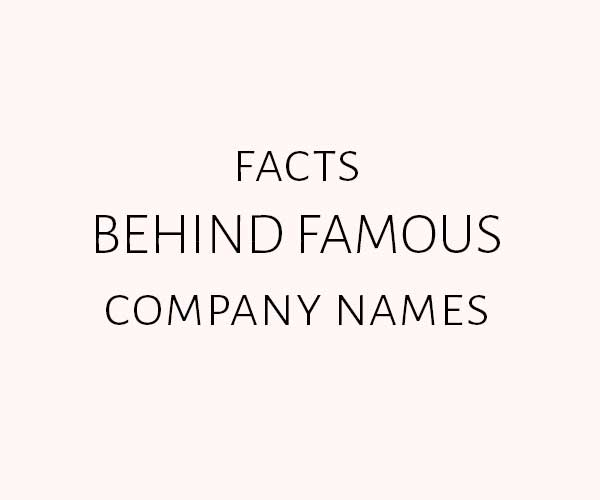 Company Names - Facts behind famous company names - Simplicity